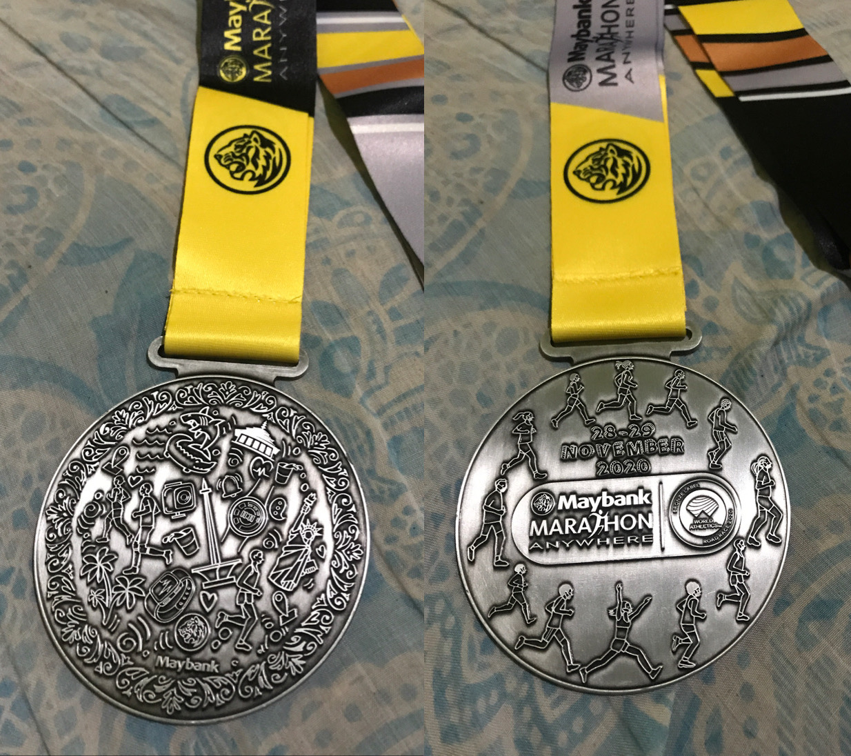 Medali Maybank Marathon Anywhere