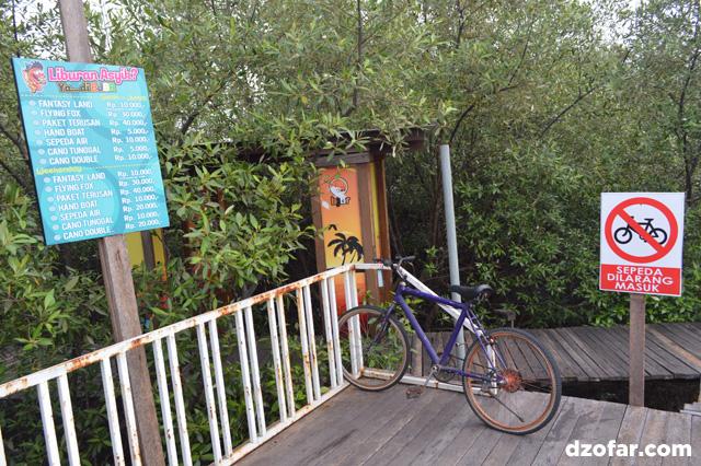 dilarang bersepeda