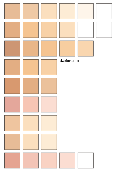 skin colors vector by ndop