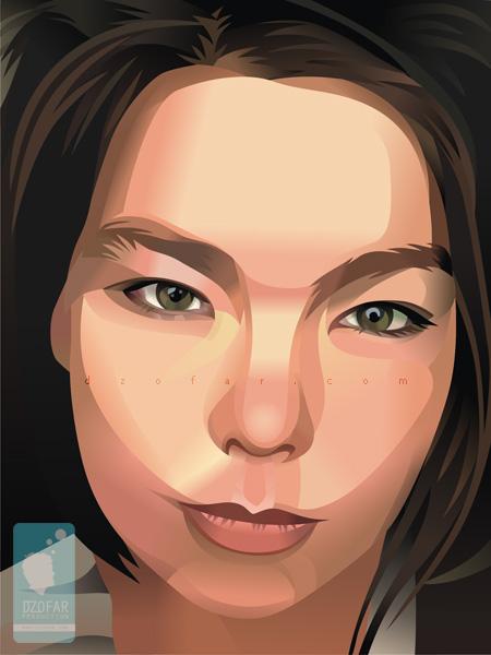 Björk vector real by dzofar.com