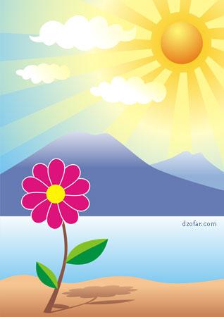 Latihan dasar corel draw: menggambar bunga dan pemandangan