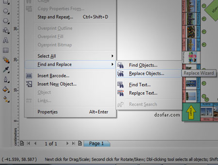 Find and Replace Corel draw