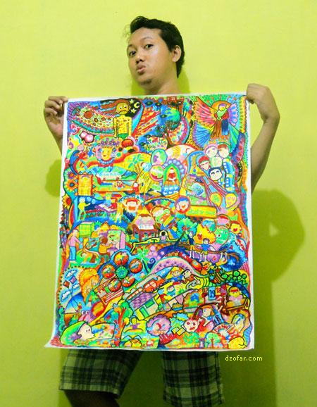 lukisan doodle crayon