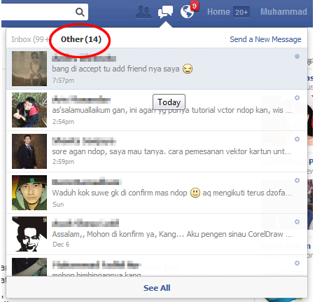 Tab Other facebook