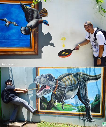 Foto 3D bersama hewan