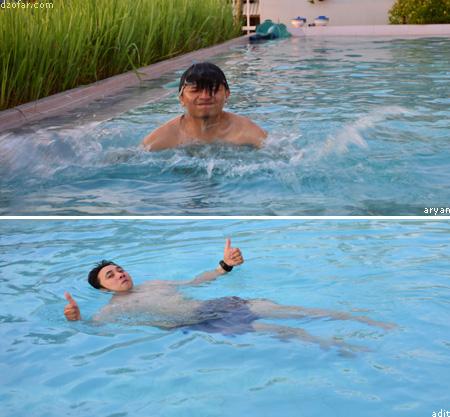 Berenang di Jepara Beach Hotel