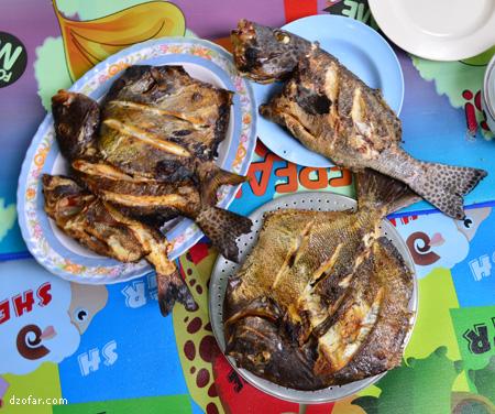 Ikan bakar siap disantap
