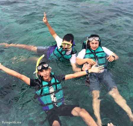 Snorkeling di pulau cemoro kecil