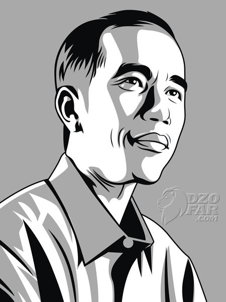 Jokowi Line Art