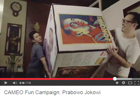 Vector Jokowi di Cameo Project Fun Campaign
