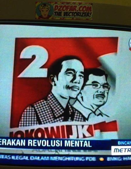 Jokowi JK vector di metrotivi