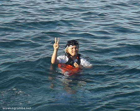 Snorkeling Aryan