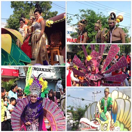 Karnaval SMP-SMA se Kecamatan Nganjuk