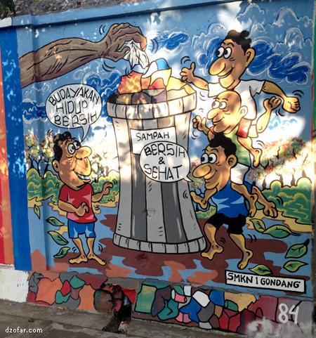 Budayakan hidup bersih Mural
