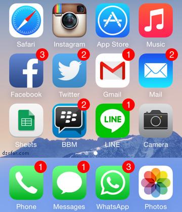 Notifikasi iPhone iOS 8