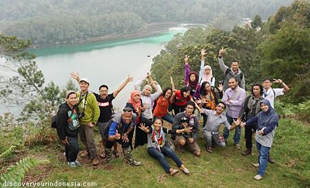 Telaga Warna bersama Travel Blogger Indonesia