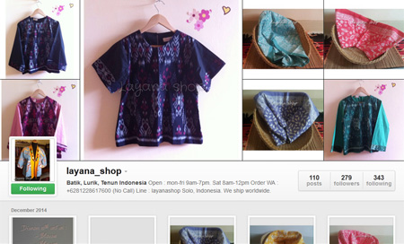 Batik, lurik, tenun, jumputan di Layana Shop