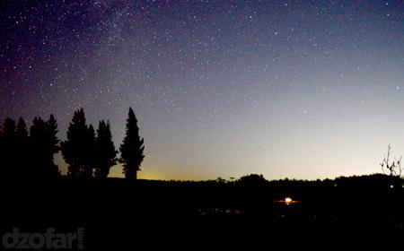 Milky way di Waduk Perning.