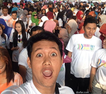 Sebelum berangkat color run party Nganjuk
