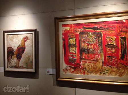 Ayam Jago dan Klenteng karya Affandi