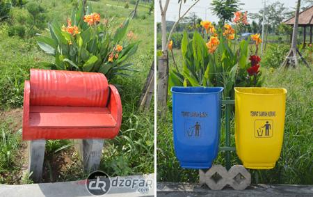 Tempat duduk dan tempat sampah