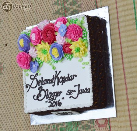 Kue tart kopdar blogger