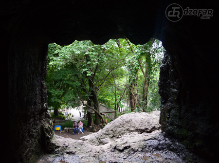 Lubang Goa dari dalam
