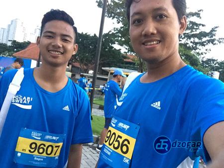 Pocari Run with bagus