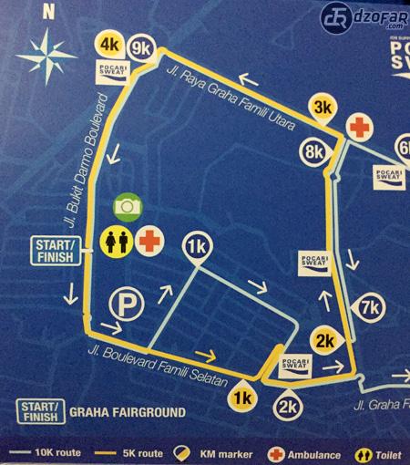Peta rute 5K