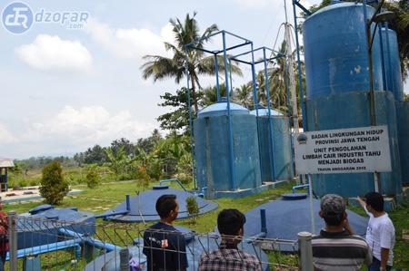 Tempat pengolahan biogas