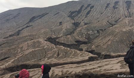 Permukaan tanah Bromo