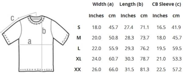 size chart panduan ukuran Gildan