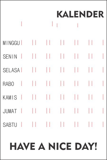 background kalender berlubang