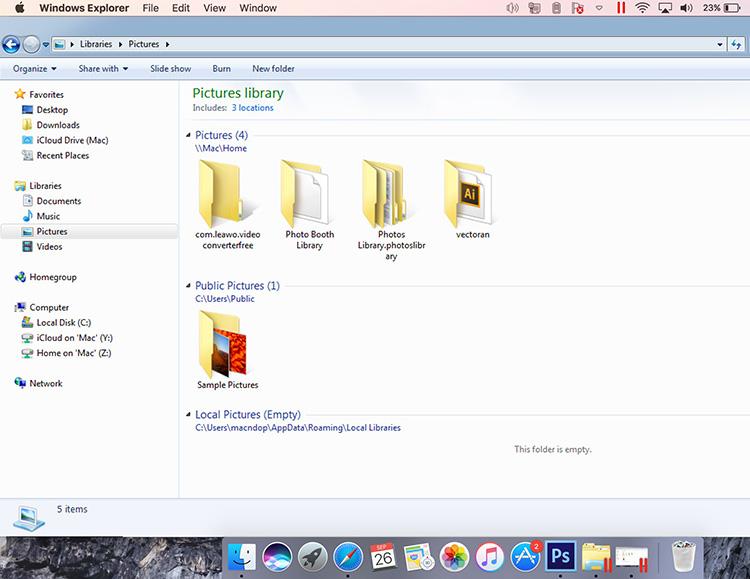 Windows di Mac