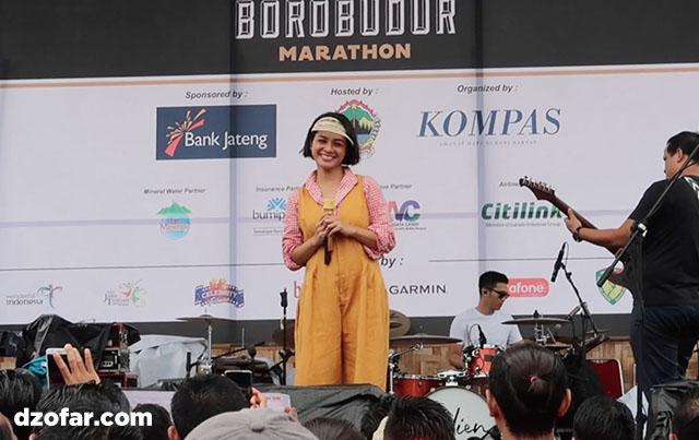 Andien di Borobudur Marathon 2017