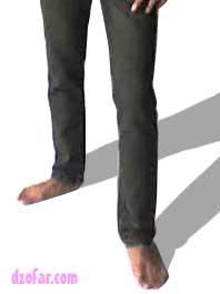 celana dicoba oleh model