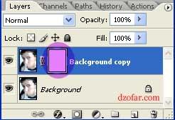 klik pada layer putih