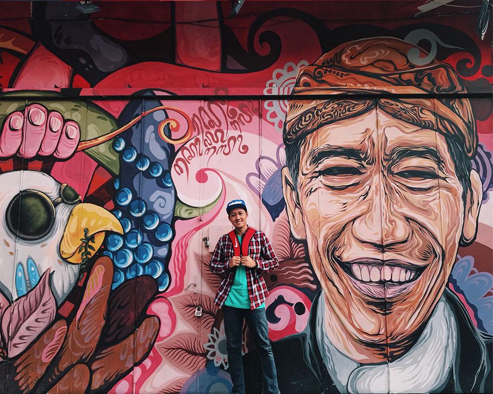 Mural Jokowi di Gatot Subroto Solo