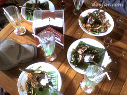 menghabiskan hidangan Mbah jingkrak