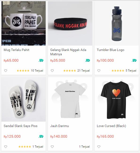 Merchandise Slank
