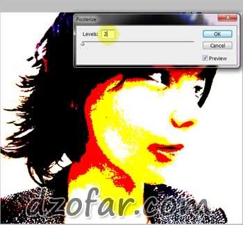 posterize photoshop level 2