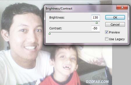 mengatur brightess/contrast