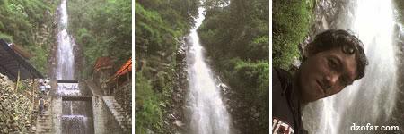 sampai juga PERTAMAX di air terjun Tirta Sari