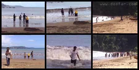 Pantai Sine yang alami