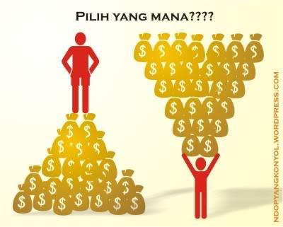 uang untuk hidup, bukan sebaliknya toh??