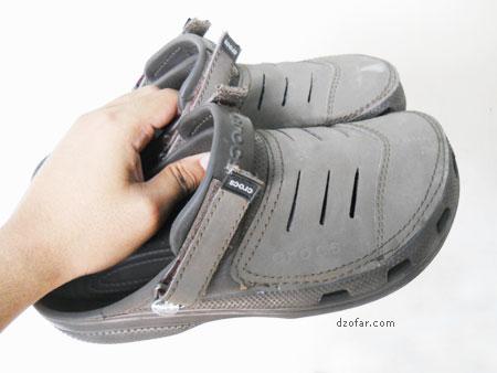 Dua Sandal Crocs Vectoria Jenaka Saldal Palsu Sepatu Kw Super